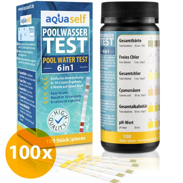Pool Test Strips 6 in 1